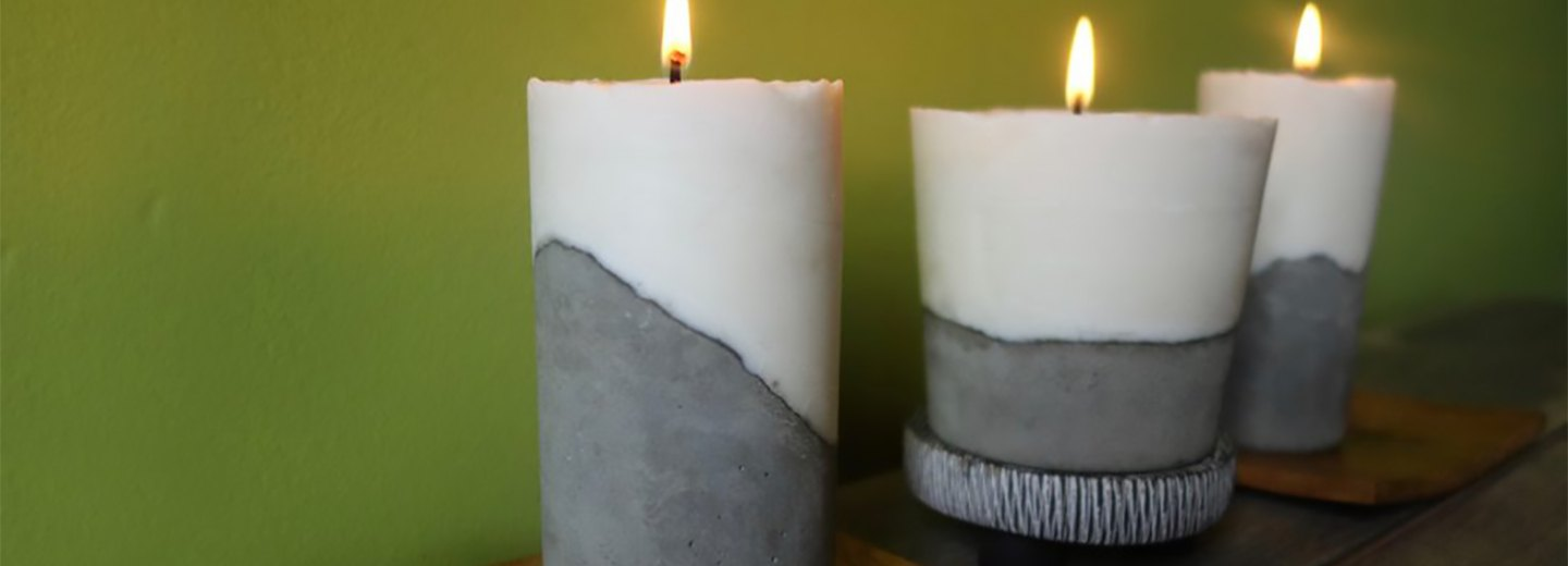 Glow by Candlelight: DIY Cement Candle