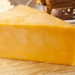 Block of cheddar cheese