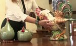 Country Table Ideas With Rooster Decorations