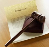 A contested divorce either goes to a public hearing or a court-approved mediation