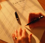 Testamentary trusts are created by a will.