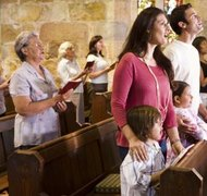 U.S. copyright law provides an exception allowing churches to perform copyrighted worship songs during services.