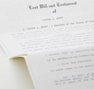 Items you own that pass through a will are part of your estate.