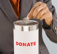 501(c)(3) organizations may receive cash or non-cash contributions.
