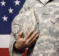 As long as you are married to a military member, you're eligible for Tricare.