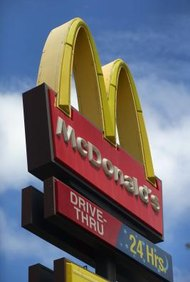 McDonald's registered its golden arches logo as a trademark.