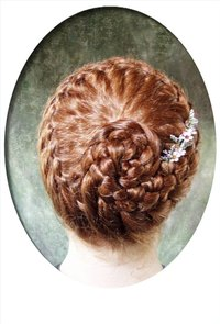 "Most people imagine something like this when they hear the words ""French braid."""