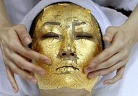 Gold-leaf facials started in China but rapidly grew popular in Japan.