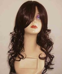 A synthetic wig.