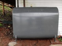 At typical outdoor installation of a fuel oil tank