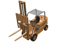 A forklift mast refers to the verticle assembly that lifts, lowers or tilts a load.
