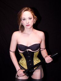 Underbust corsets are easier to wear with breast forms than overbust corsets.