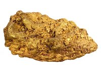 Gold nuggets may appear large in advertisements, but most are tiny.