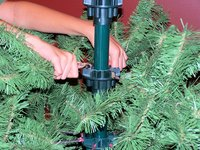 A well-made artificial tree has a sturdy center pole and stand.