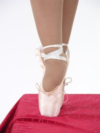 Ballet shoes can also be dyed with liquid fabric dye.