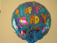 Printed Mylar balloon.