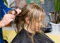 A slide cut works well for cleaning up longer hair.