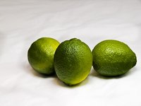 The Persian lime is ripe when it turns yellow.