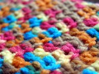Crochet stitches create a dense fabric that is good for rugs.