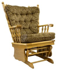 Make a glider rocker from an old bench.