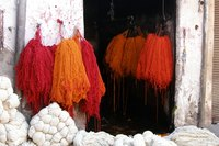 Dye fabric with spices.