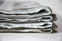 Old newspaper is the raw material for treasured objects.