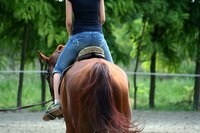 Riding horses can improve confidence, balance and flexibility.