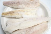 Commercially frozen haddock fillets have near-fresh quality.