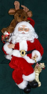 When making a lifesize Santa doll, look at pictures and smaller dolls for inspiration.