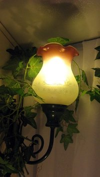 Hurricane lamps can be used as centerpieces.