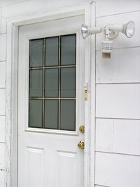 Make a dutch door by cutting your old door in half.