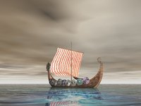 The Viking longship enabled the Vikings to sail from Scandanavia to North America.