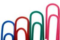 Paper clips come in many shapes and sizes.