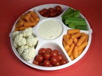A basic party tray may hold a variety of pieces.