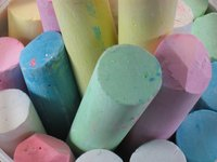 With just a few ingredients you can make your own non-toxic sidewalk chalk.