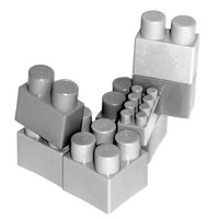 The popular building block toys can be used to bring co-workers together.