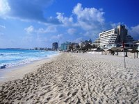 Cancun has many popular holiday resorts.
