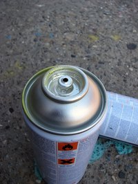"Use spray paint to ""dye"" steel."