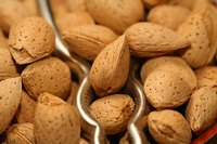 Almond flour can be made at home by grinding dry, roasted almonds.