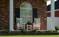 Decorate your front porch with colorful wind spinners.
