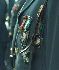 The displaying of medals is a sign of honor and respect.