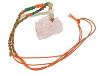 A colorful crystal amulet.