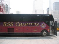 A privately operated charter bus