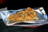 Marijuana bud contains THC