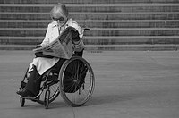 Many stroke victims require the use of a wheelchair.