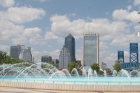 Downtown Jacksonville, Florida, as seen from Friendship Park.