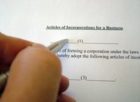 Incorporation documents are required to start a private corporation.