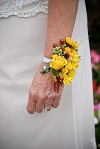 Corsages are worn for homecoming events.