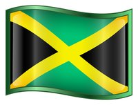 The flag of independent Jamaica.