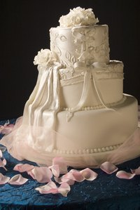 A cake is a great focal point in the room.